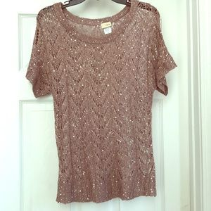 Bling Bling mauve top by Daytrip
